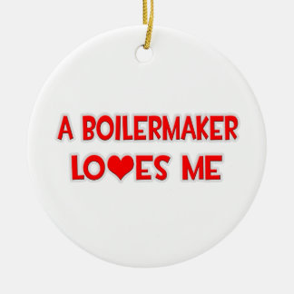 A Boilermaker Loves Me Christmas Tree Ornaments