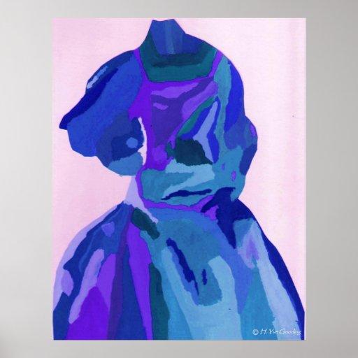 """""""A. Boleyn Blue poster del vestido I"""" - personaliz"""