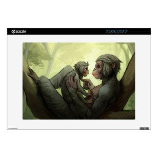 A Bonobo Mother's Love laptop skin