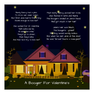 A Booger For Valentine's or Prom Night Poem Poster