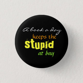 A book a day pinback button