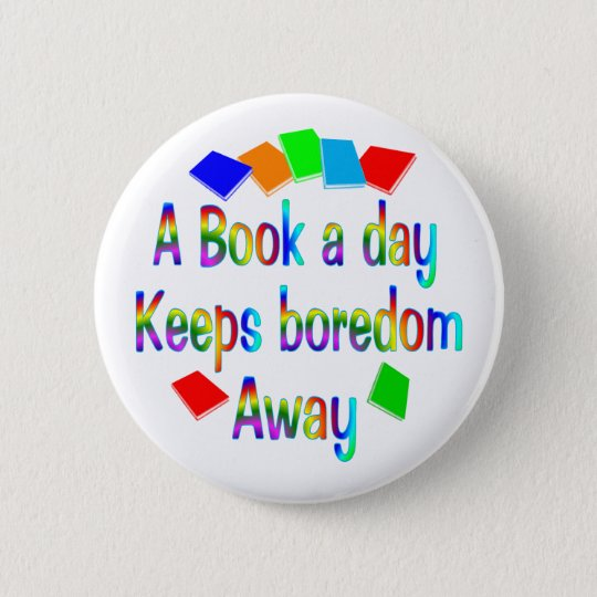 A Book A Day Pinback Button