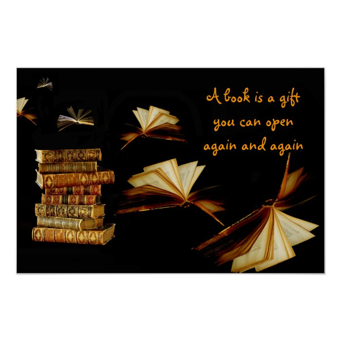 A Book Is A Gift You Can Open Again Poster