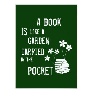 A Book is like a Garden Carried in the Pocket Card