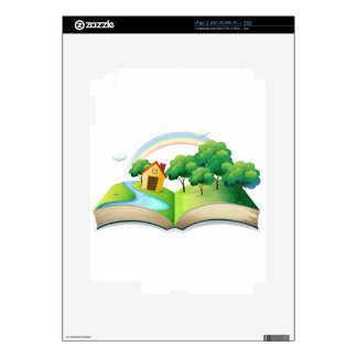 A book with a story of a house at the forest iPad 2 decal