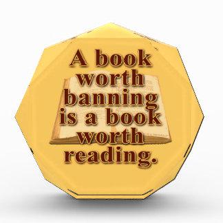 A Book Worth Banning Large Acrylic Octagon Award