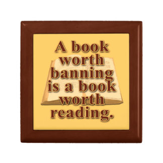 A Book Worth Banning Small Tile Gift Box