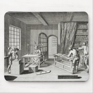 A bookmaker's workshop, from the 'Encyclopedie des Mouse Pad