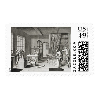 A bookmaker's workshop, from the 'Encyclopedie des Postage