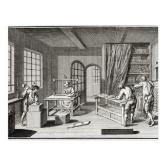 A bookmaker's workshop, from the 'Encyclopedie des Postcard