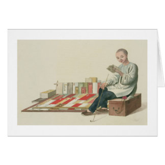 A Bookseller, plate 6 from 'The Costume of China', Cards