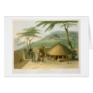 A Boosh-Wannah Hut, plate 7 from 'African Scenery Card