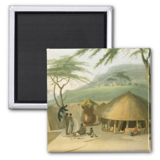 A Boosh-Wannah Hut, plate 7 from 'African Scenery Magnet