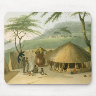 A Boosh-Wannah Hut, plate 7 from 'African Scenery Mouse Pad