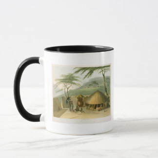 A Boosh-Wannah Hut, plate 7 from 'African Scenery Mug
