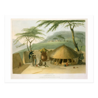 A Boosh-Wannah Hut, plate 7 from 'African Scenery Postcard