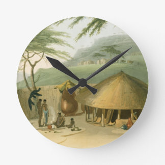 A Boosh-Wannah Hut, plate 7 from 'African Scenery Round Clock