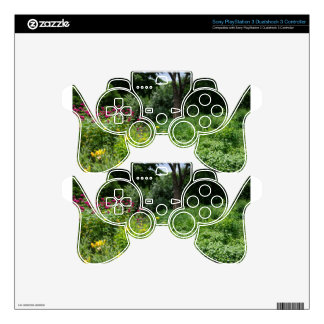 A Botanical Gardens Flower Grove Skins For PS3 Controllers