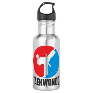 A bottle of water. Taekwondo