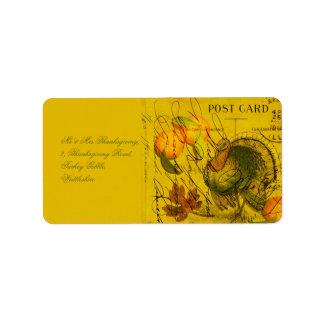 A Bountiful Thanksgiving Personalized Address Label