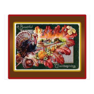 A Bountiful Thanksgiving Postcard