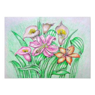A bouquet flowers card