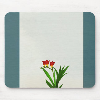 a bouquet of elegant red flowers Mousepad