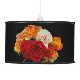 A Bouquet of Roses x3 Hanging Pendant Lamps