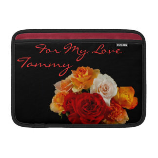"""A Bouquet of Sweet Roses for My Love 11"""" MacBook Sleeve"""