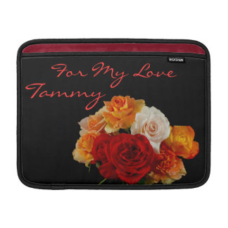 A Bouquet of Sweet Roses for My Love MacBook Sleeve