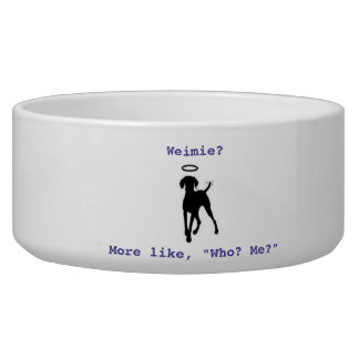 A bowl for your favorite Weimie!