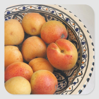 A bowl of Mediterranean Apricots 2 Square Sticker