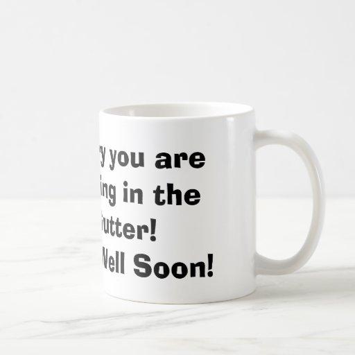 A bowling ball Get well mug