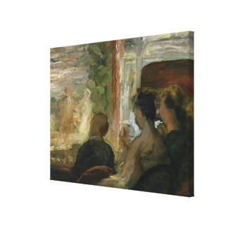 A Box at the Theatre, c.1865-70 Canvas Print