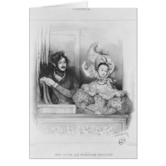A box at the Theatre Italien, engraved by Frey Card