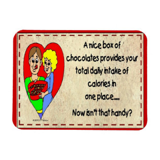 A Box Of Chocolates Provides All of  Your Calories Magnet