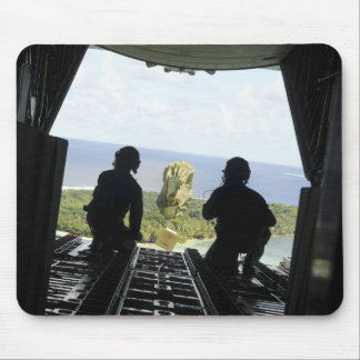 A box of humanitarian goods mouse pad