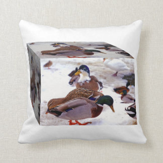 A Box of Quackers Throw Pillow