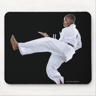 A Boy (15 Years Old) doing a front kick Mouse Pad