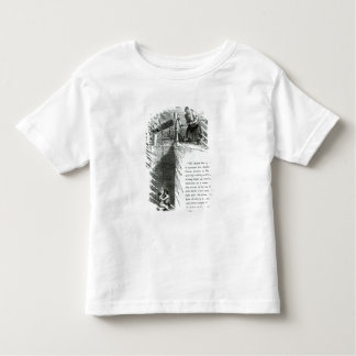 A boy and girl being wound up a mine shaft toddler t-shirt