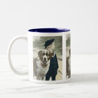 A Boy and His Dog Ceramic Mug