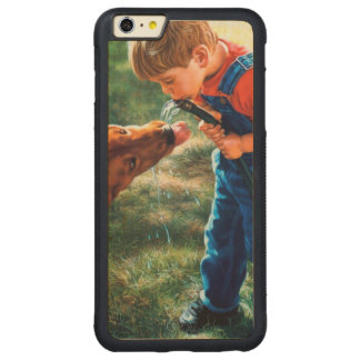 A Boy and his Dog Water Hose Thirst Colorful Carved® Maple iPhone 6 Plus Bumper