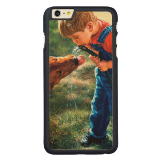 A Boy and his Dog Water Hose Thirst Colorful Carved® Maple iPhone 6 Plus Slim Case