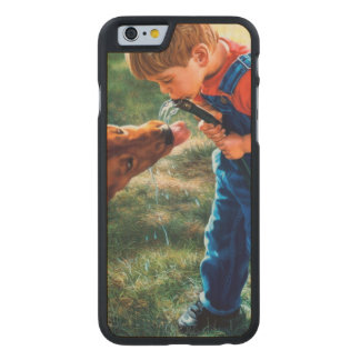A Boy and his Dog Water Hose Thirst Colorful Carved® Maple iPhone 6 Slim Case