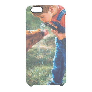 A Boy and his Dog Water Hose Thirst Colorful Clear iPhone 6/6S Case