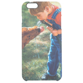 A Boy and his Dog Water Hose Thirst Colorful Clear iPhone 6 Plus Case