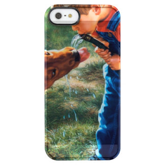 A Boy and his Dog Water Hose Thirst Colorful Clear iPhone SE/5/5s Case