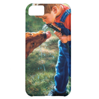 A Boy and his Dog Water Hose Thirst Colorful Cover For iPhone 5C