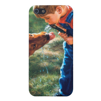 A Boy and his Dog Water Hose Thirst Colorful Cover For iPhone SE/5/5s