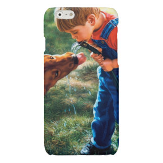A Boy and his Dog Water Hose Thirst Colorful Glossy iPhone 6 Case